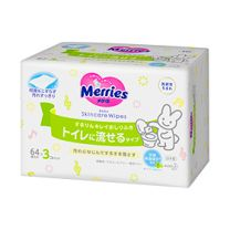 Merries 4901301239860 baby wipes 64 pc(s) 4901301239860image