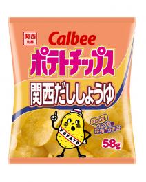 Calbee 加樂比 洋芋片 關西醬油口味 58g