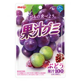 Meiji Fruit juice flavor Gummy Grapes 51 g
